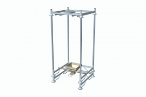 Custom-built emptying station with industrial slide gate valve